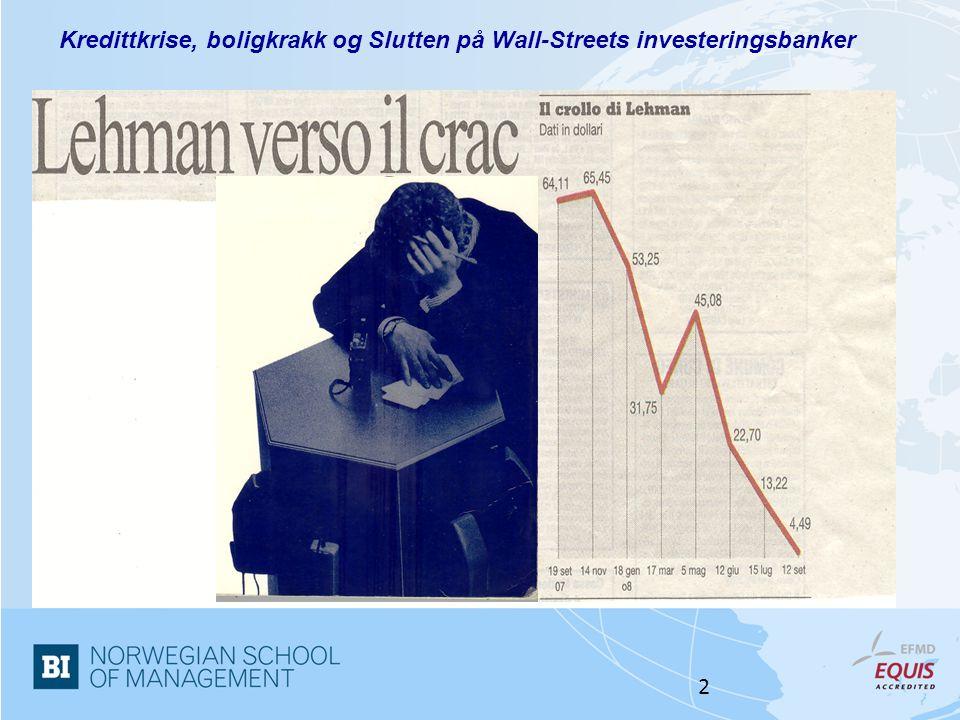 Norwegian School of Management 2 Kredittkrise, boligkrakk og Slutten på Wall-Streets investeringsbanker