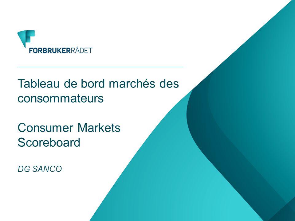 Tableau de bord marchés des consommateurs Consumer Markets Scoreboard DG SANCO