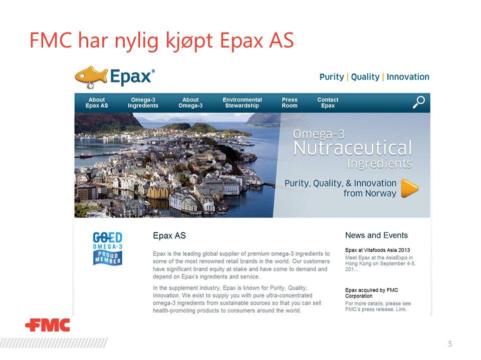 FMC har nylig kjøpt Epax AS 5