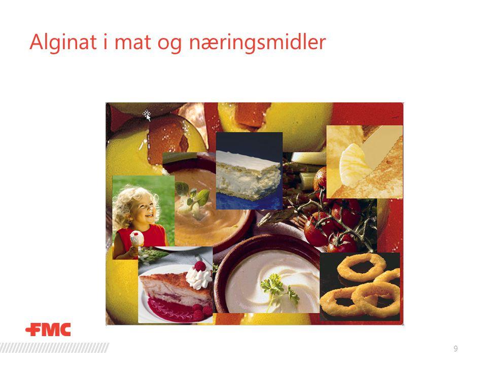 Alginat i mat og næringsmidler 9