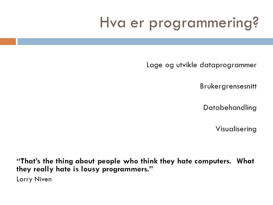 Hvorfor lære programmering.Hvorfor lære å skrive skjønnlitterære tekster.