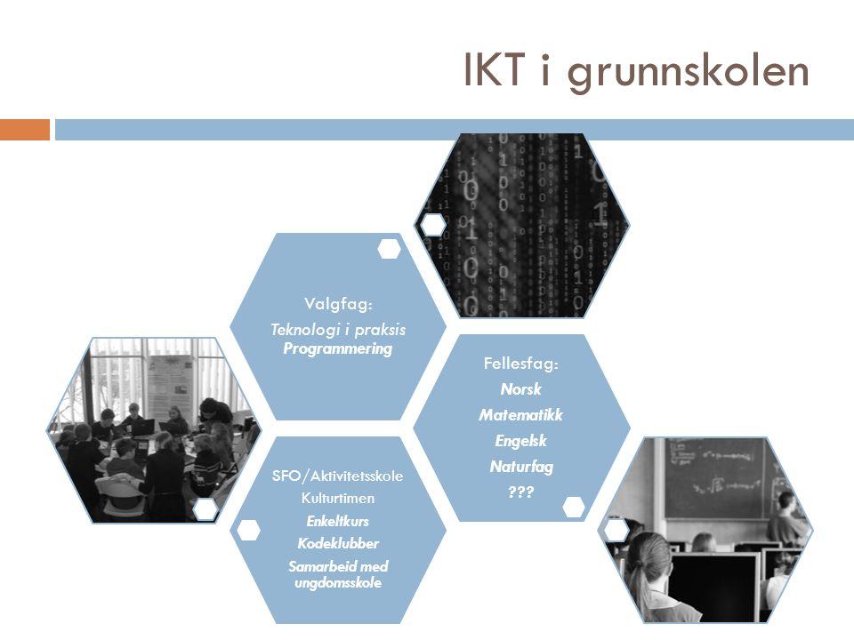 IKT i fag Matematikk Naturfag Engelsk Norsk
