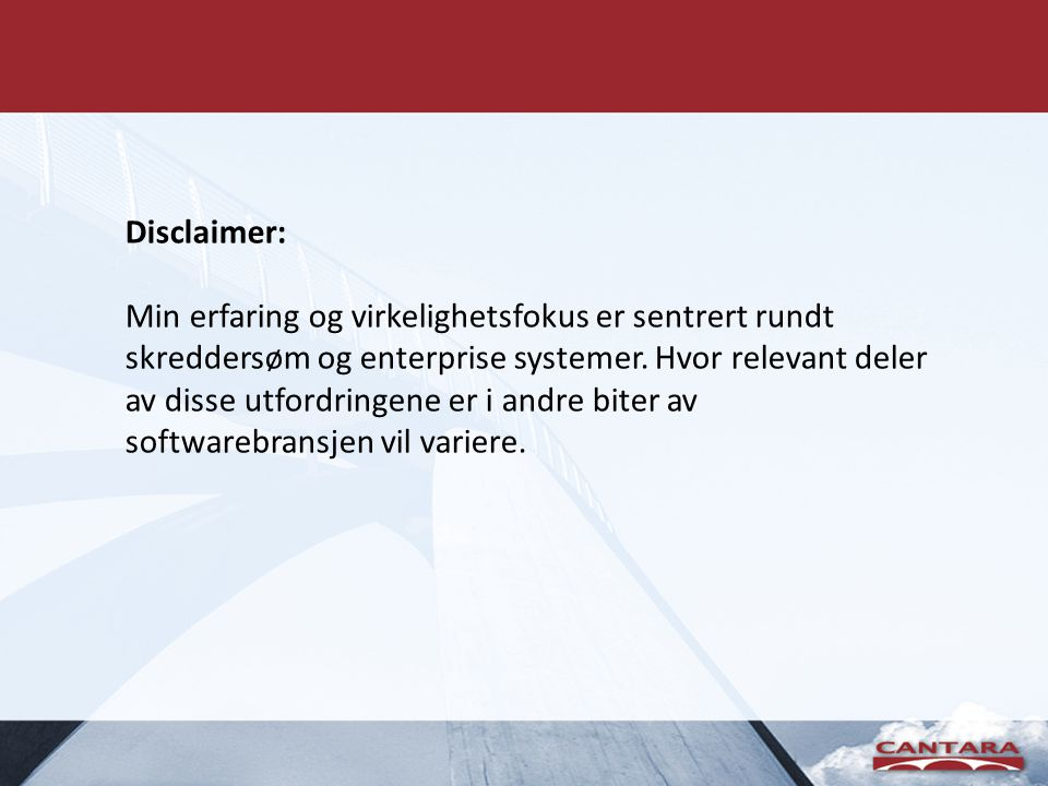 Tankeeksperiment Web-based customer system for department in large enterprise (10k+ emp.) • Existing database • No suitable API´s to integrate with.