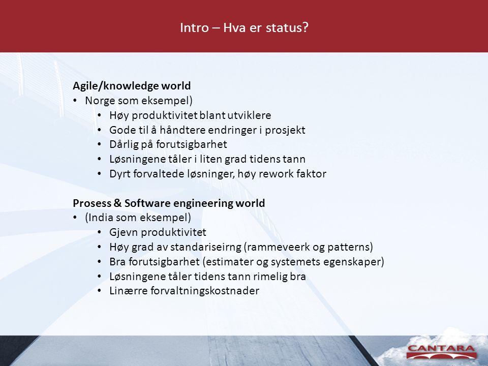Intro – Hva er status.