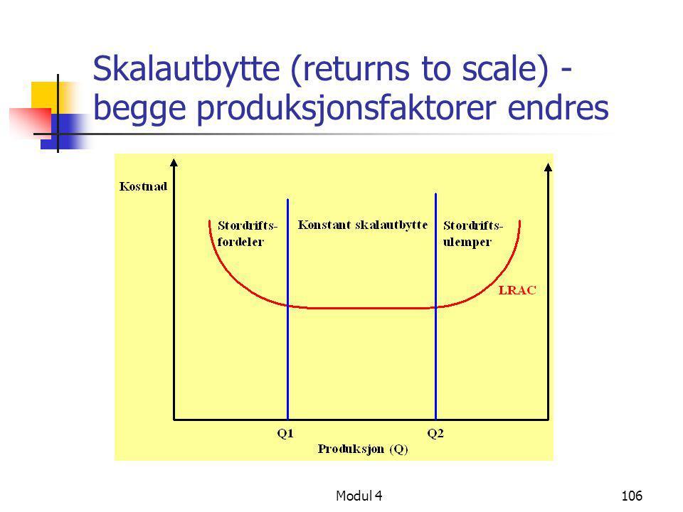 Modul 4106 Skalautbytte (returns to scale) - begge produksjonsfaktorer endres