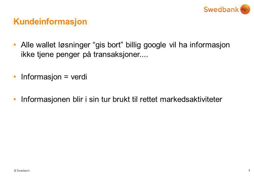© Swedbank Cross Channel 7 Informasjon