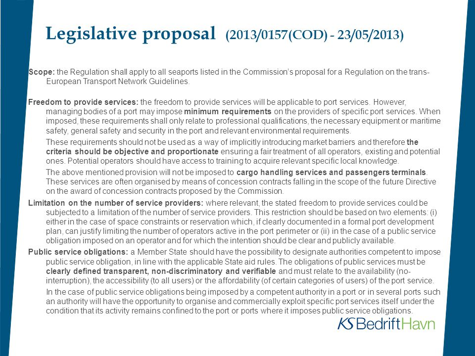 Legislative proposal (2013/0157(COD) - 23/05/2013) Employees' rights: employees rights should be safeguarded and the Member States should have the option to further strengthen these rights in the event of a transfer of undertakings and the relevant staff working for the old undertaking.