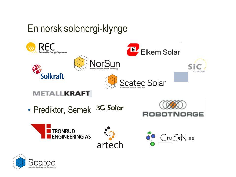En norsk solenergi-klynge • Prediktor, Semek 3G Solar