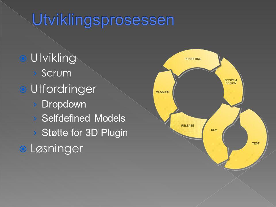  Utvikling › Scrum  Utfordringer › Dropdown › Selfdefined Models › Støtte for 3D Plugin  Løsninger