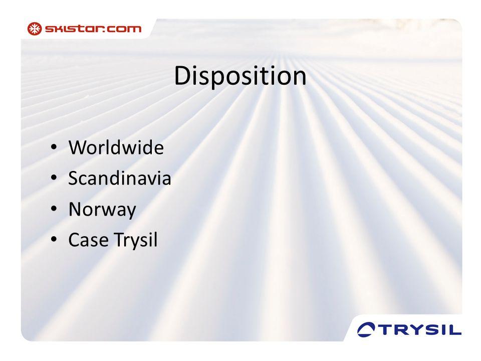 Disposition • Worldwide • Scandinavia • Norway • Case Trysil
