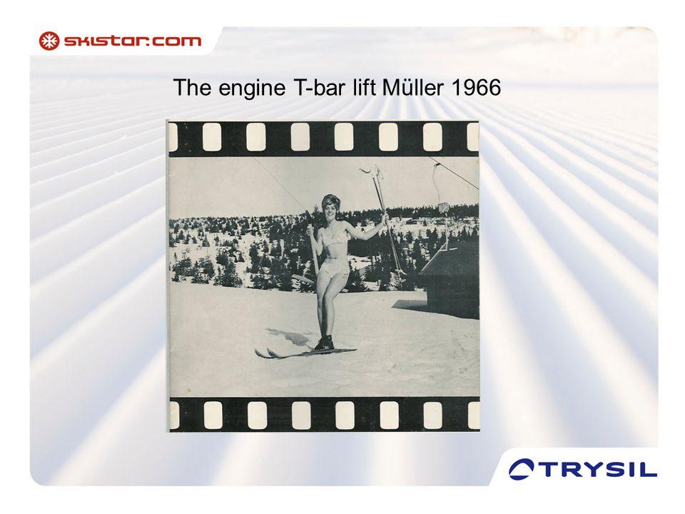 The engine T-bar lift Müller 1966