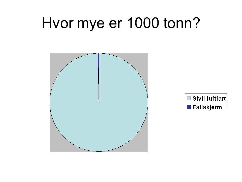 Hvor mye er 1000 tonn?