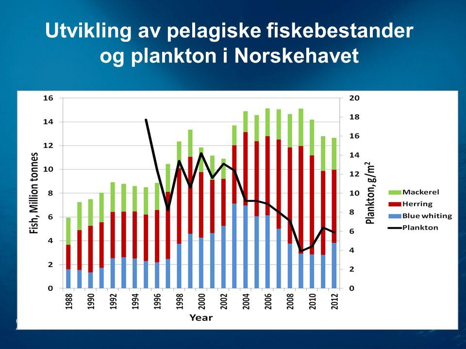 Utvikling av pelagiske fiskebestander og plankton i Norskehavet