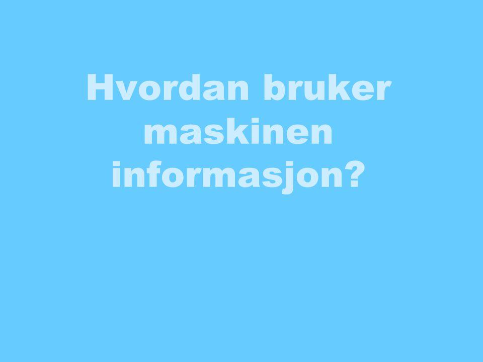 Hvordan bruker maskinen informasjon?