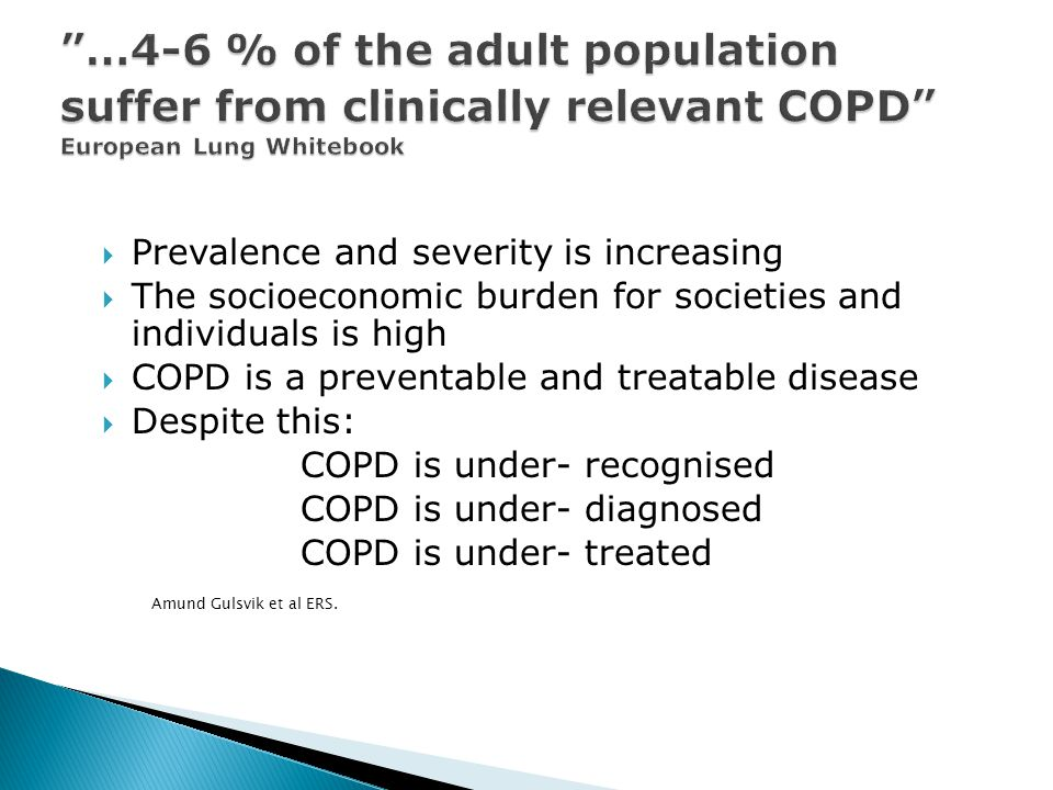  Pulmonary rehabilitation improves HRQOL in patients with COPD.