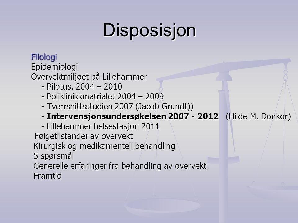 Deltakerkategorier Poliklinikk (Totalt 5 konsultasjoner) -Lege, sykepleier, fysioterapeuter og dietetiker/kef.