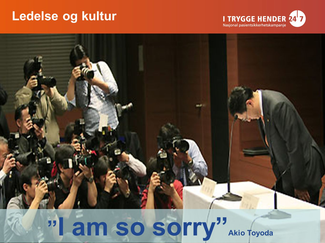 I am so sorry Akio Toyoda Ledelse og kultur