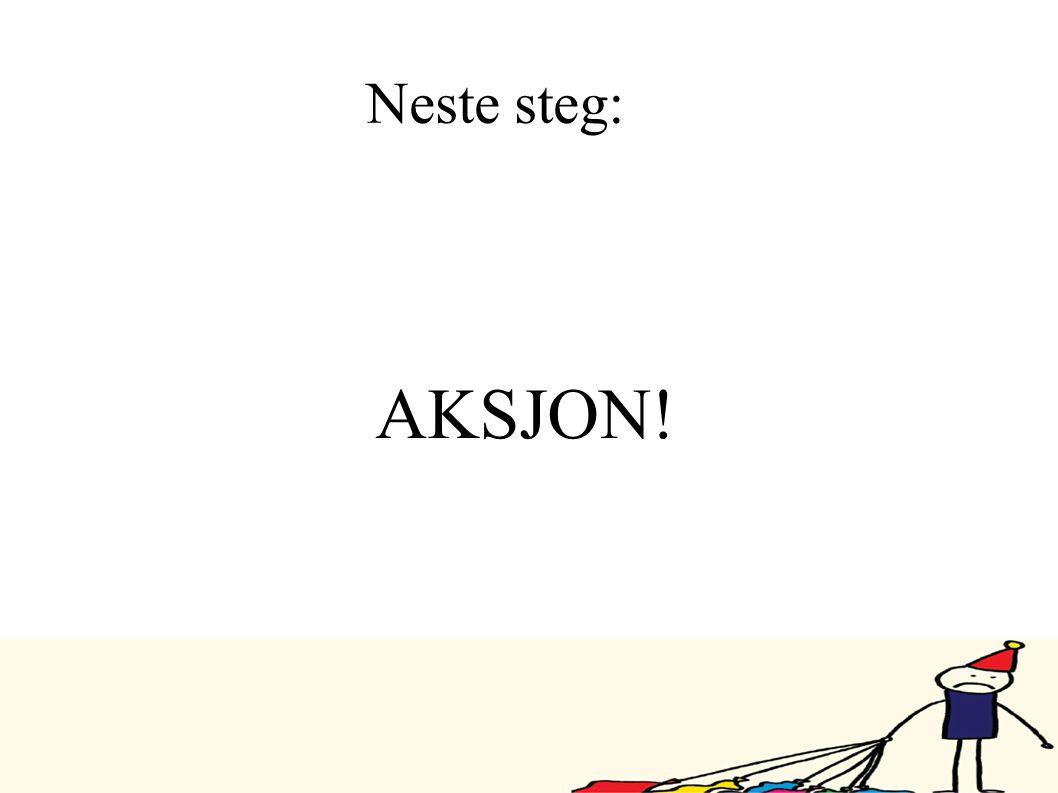 Neste steg: AKSJON!