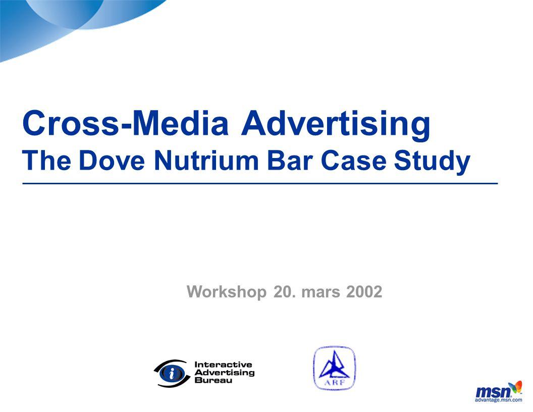 Cross-Media Advertising The Dove Nutrium Bar Case Study Workshop 20. mars 2002