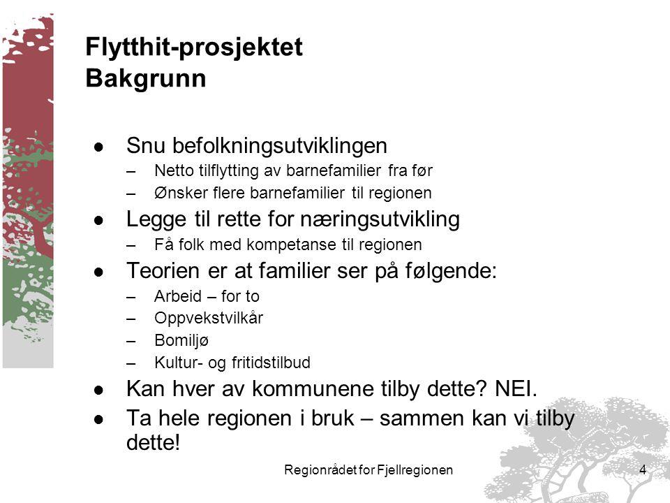 Regionrådet for Fjellregionen3 Framskrevet befolkningsutvikling 2001 – 2010.