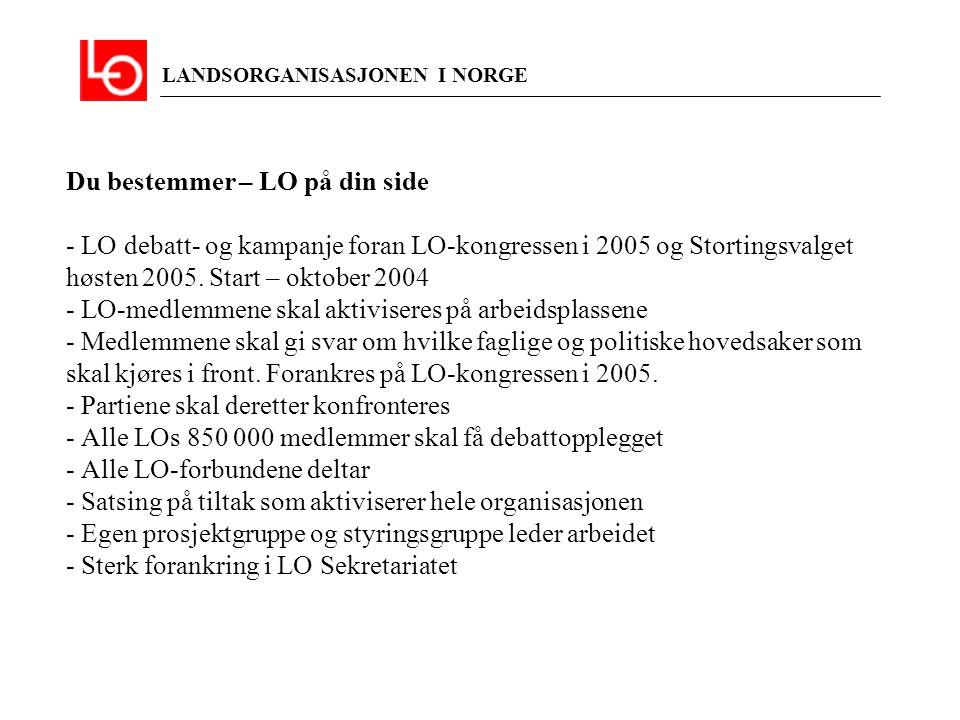 LANDSORGANISASJONEN I NORGE Informasjons- og organisasjonstiltak 1.