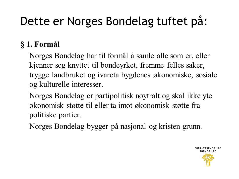 Dette er Norges Bondelag tuftet på: § 1.