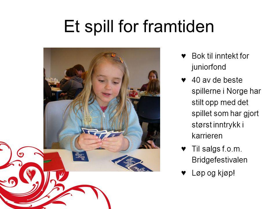 Et spill for framtiden ♥Bok til inntekt for juniorfond ♥40 av de beste spillerne i Norge har stilt opp med det spillet som har gjort størst inntrykk i