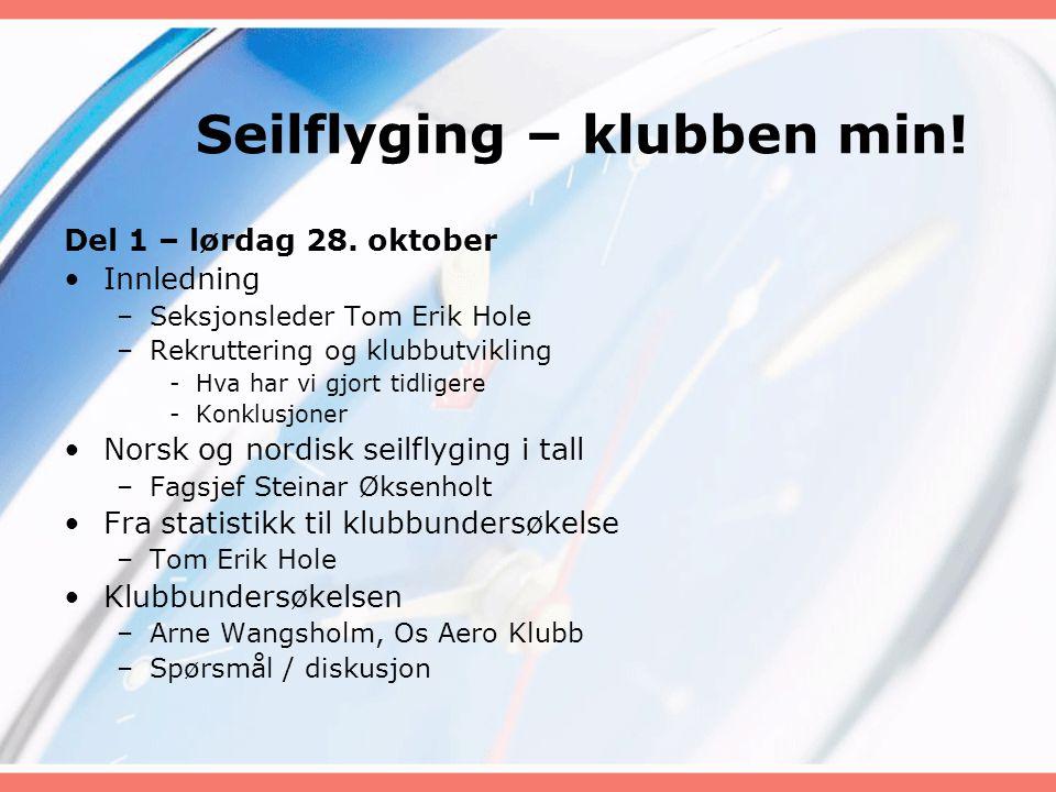 Seilflyging – klubben min.Del 2 – søndag 29.