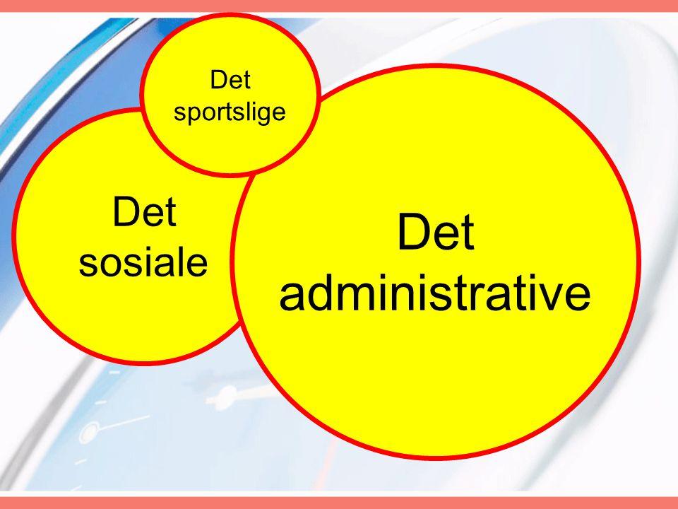 Det sosiale Det administrative Det sportslige