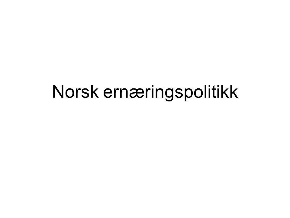 Norsk ernæringspolitikk