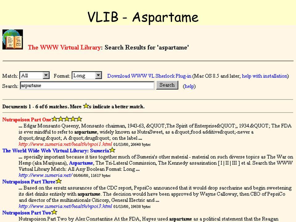 NOLUG foredrag - Emneportaler33 VLIB - Aspartame
