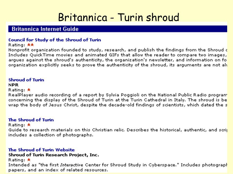NOLUG foredrag - Emneportaler35 Britannica - Turin shroud