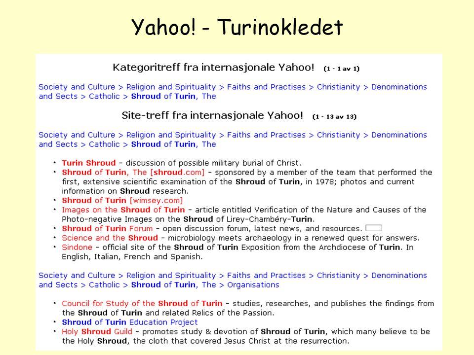 NOLUG foredrag - Emneportaler39 Yahoo! - Turinokledet