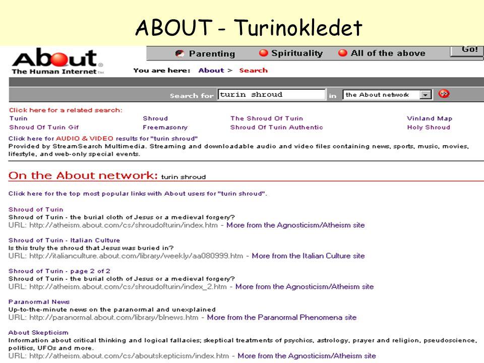 NOLUG foredrag - Emneportaler40 ABOUT - Turinokledet
