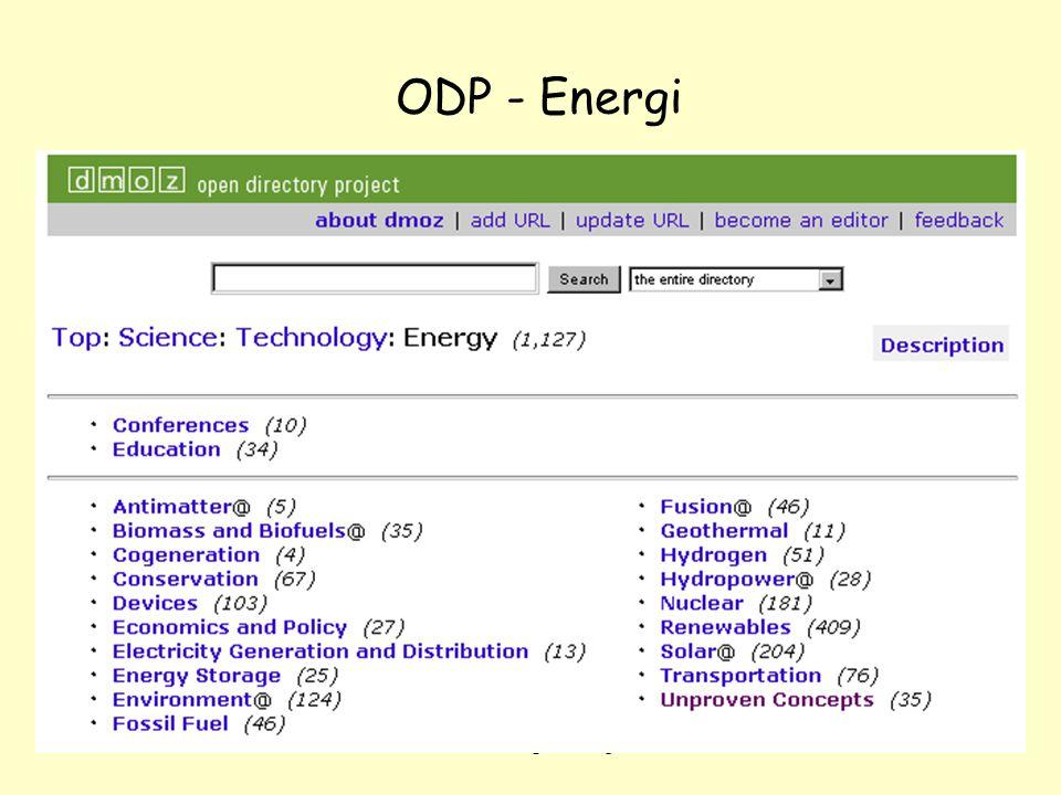NOLUG foredrag - Emneportaler42 ODP - Energi