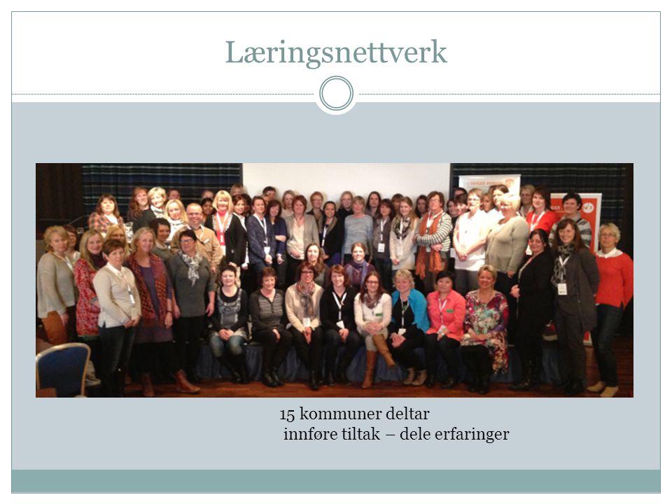 Læringsnettverk 15 kommuner deltar innføre tiltak – dele erfaringer