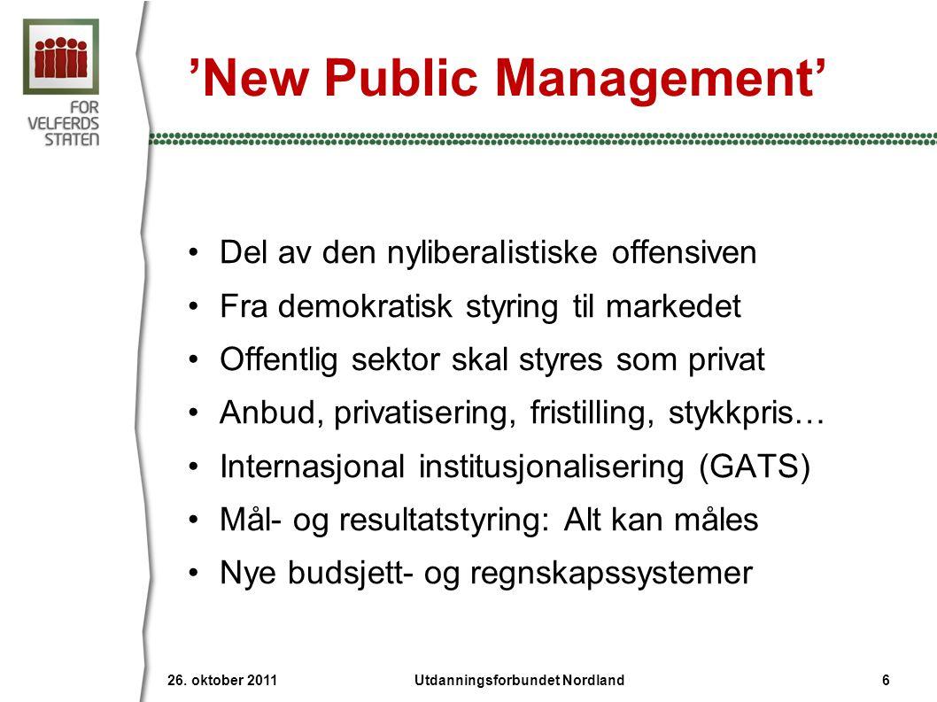 Kan kutte ut anbud 26. oktober 2011 67Utdanningsforbundet Nordland