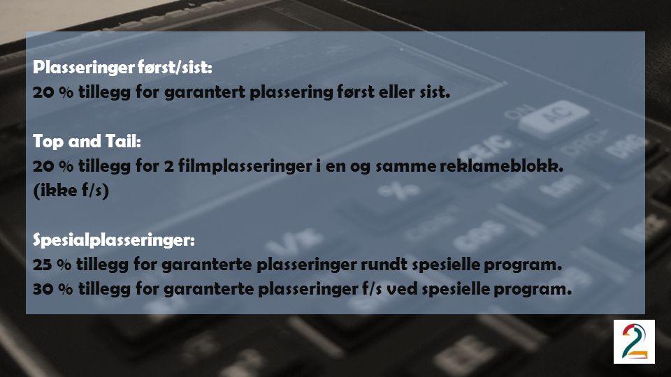 Filmlevering: Senest 4 virkedager før første visning.