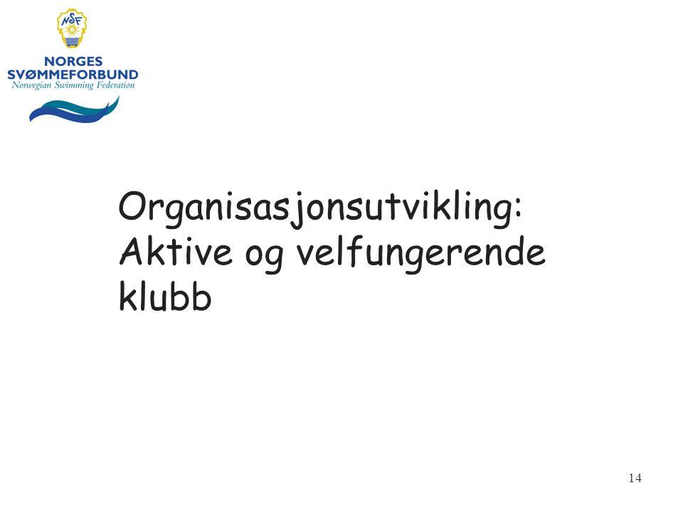 Organisasjonsutvikling: Aktive og velfungerende klubb 14