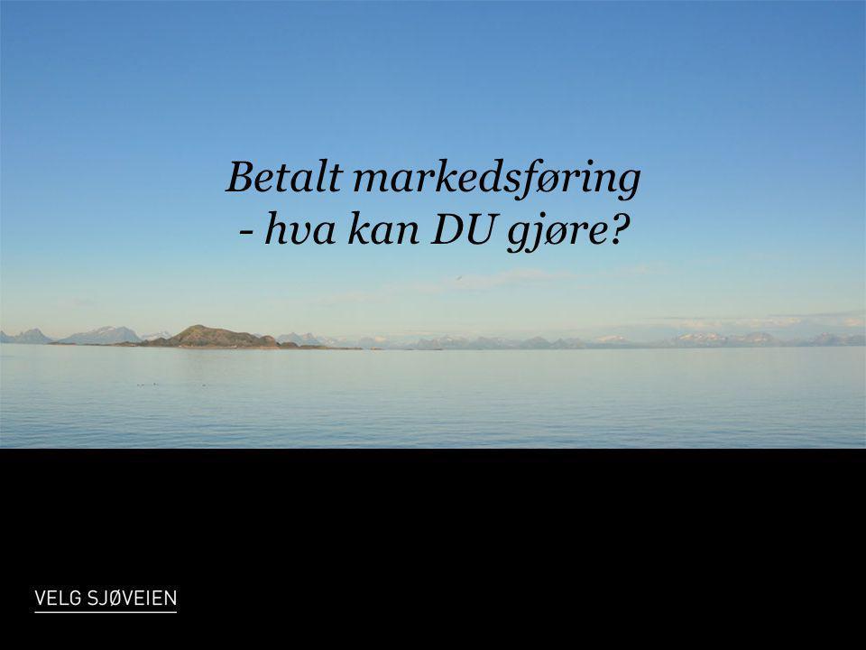 Betalt markedsføring - hva kan DU gjøre