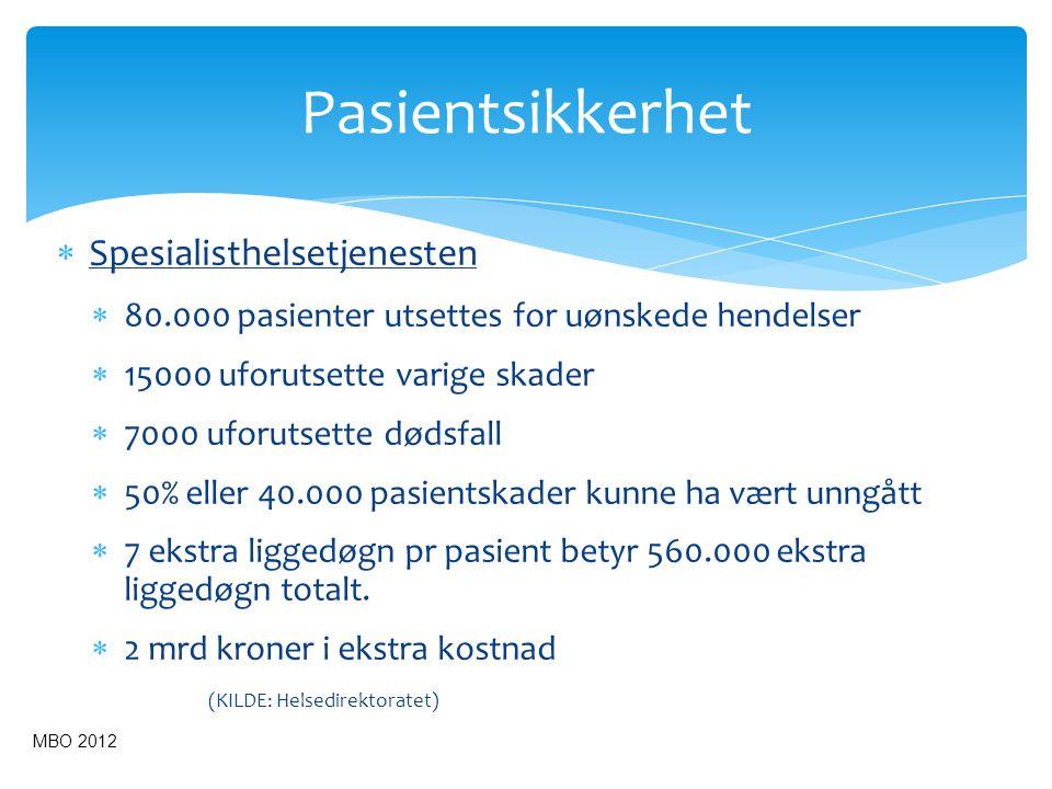  Primærhelsetjenesten Det savnes kunnskap om omfang av pasientskader i Kommune- helsetjenesten.