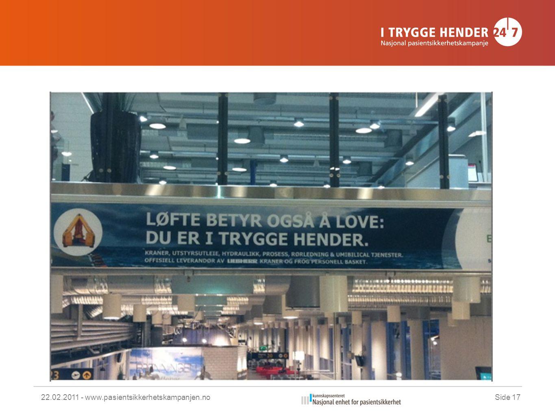 22.02.2011 - www.pasientsikkerhetskampanjen.noSide 17