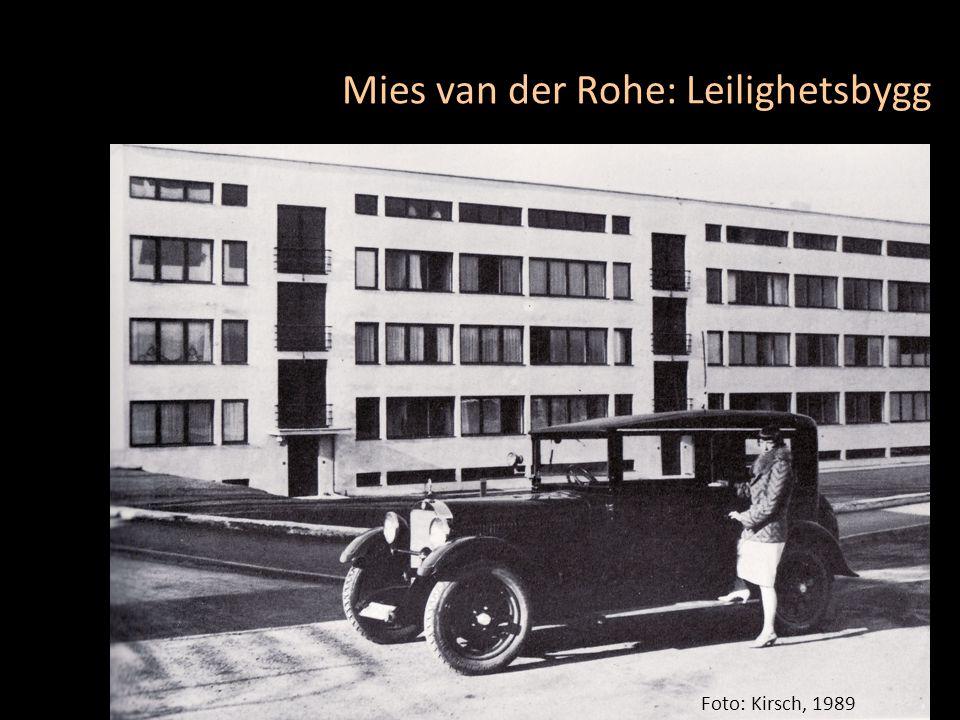 Foto: Kirsch, 1989 Mies van der Rohe: Leilighetsbygg