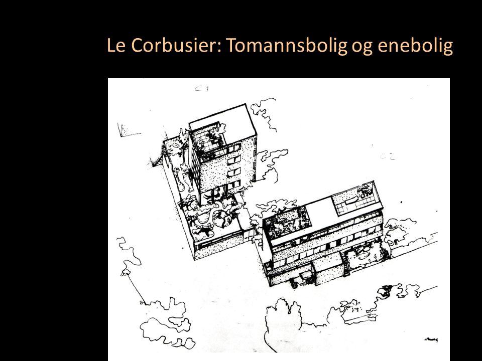 Le Corbusier: Tomannsbolig og enebolig