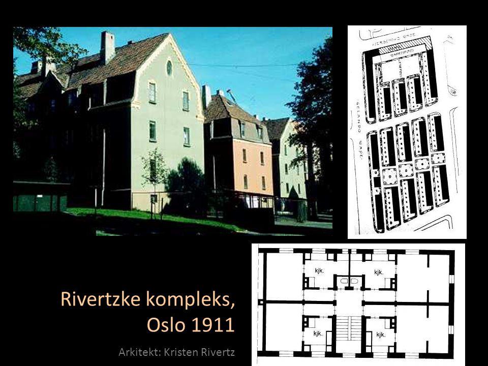 Rivertzke kompleks, Oslo 1911 Arkitekt: Kristen Rivertz