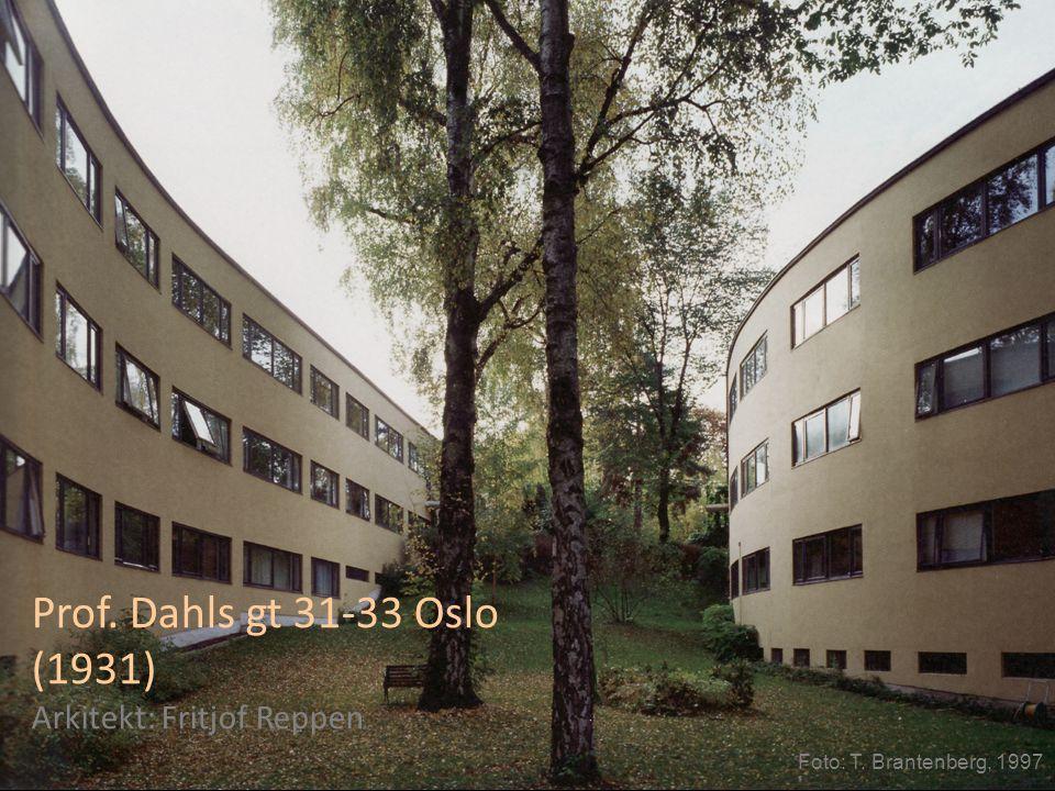 Prof. Dahls gt 31-33 Oslo (1931) Arkitekt: Fritjof Reppen Foto: T. Brantenberg, 1997