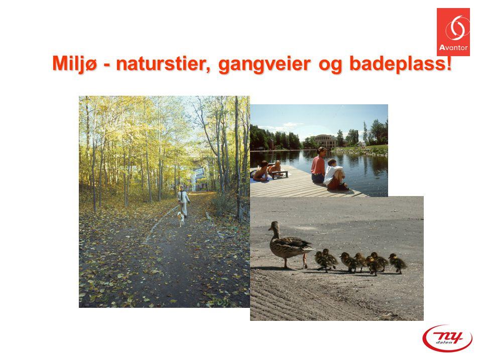Miljø - naturstier, gangveier og badeplass!