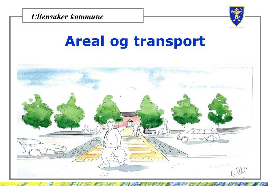 Ullensaker kommune 8 Areal og transport