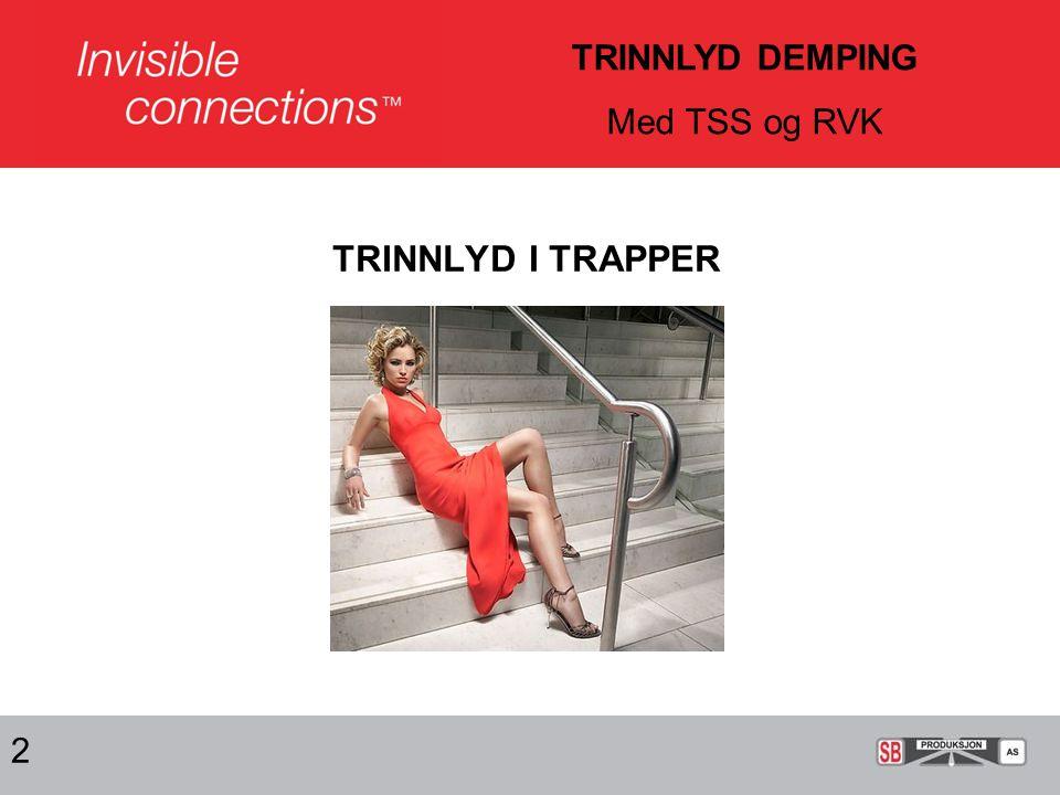 TRINNLYD I TRAPPER 2 TRINNLYD DEMPING Med TSS og RVK