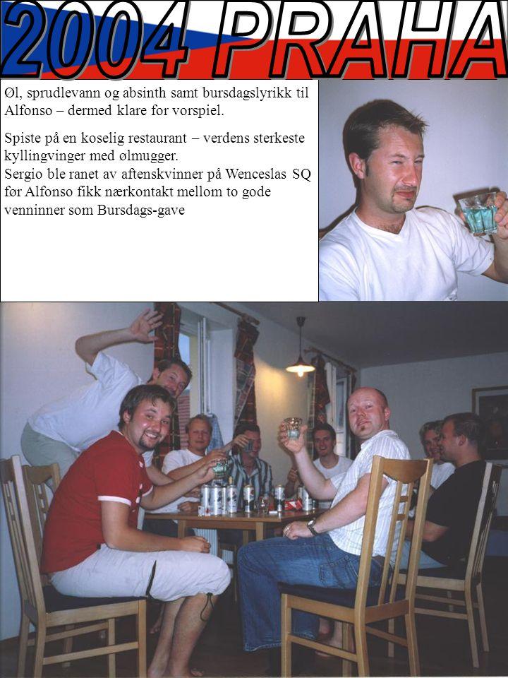 Øl, sprudlevann og absinth samt bursdagslyrikk til Alfonso – dermed klare for vorspiel.